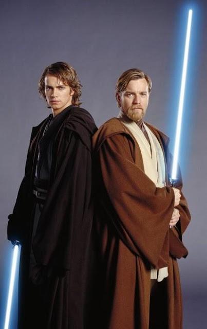 Foto de Anakin Skywalker de Star Wars con su maestro