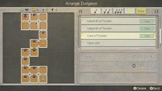 Letter Z dungeon arrangement