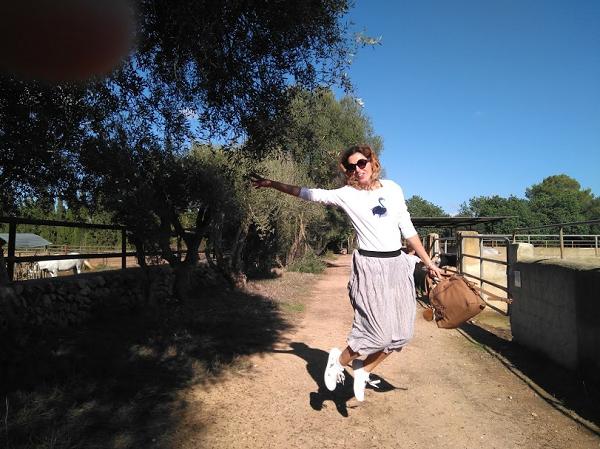 camiseta hecha a manp flamenco