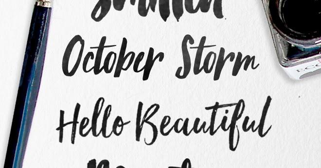 Modern brush fonts skyla design