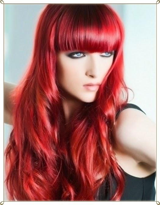 Mode Germany Glamouröse Rote Haare Frisuren
