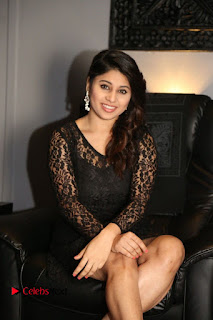 Actress Hamida Leatest Pictures in Black Lace Dress  0085.JPG