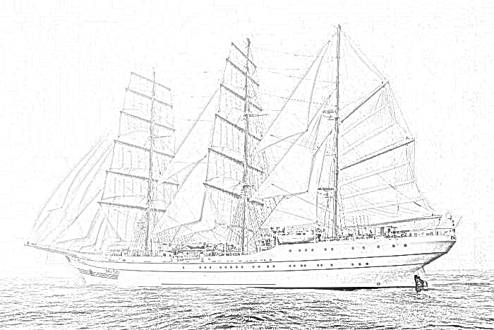 british sailing warship coloring pages - photo#9