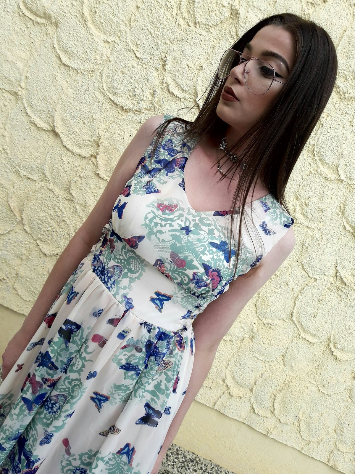 Fashion Mia Online Customer Reviews: Fashion Mia Butterfly Printed Maxi Dress