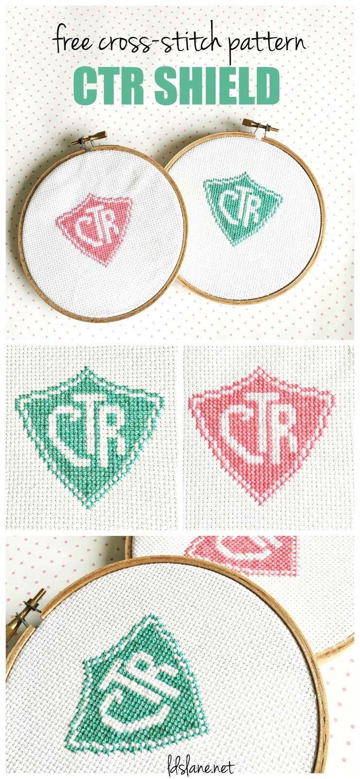 free cross stitch pattern ctr shield