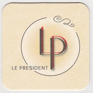 Sous-bock de la brasserie Le Président à Valenciennes