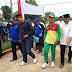 Gotong Royong Warga Labuh Baru Barat Bersama Walikota Pekanbaru di Halaman Qur'anic School Permata