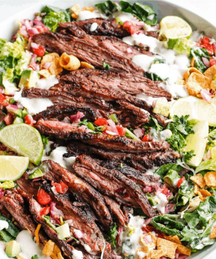 Easy Skirt Steak Taco Salad