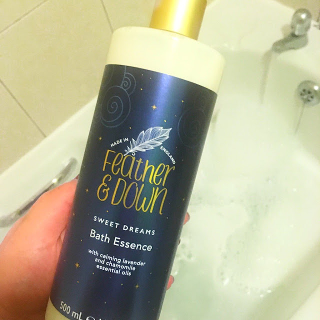 feather and down bath oil