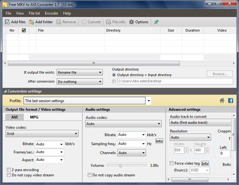 تنزيل محول الفيديو MKV إلى AVI أو MPEG أحدث إصدار - فولدر برامج