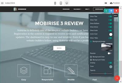 برنامج, خفيف, ومجانى, لإنشاء, مواقع, ويب, بسرعة, وإحترافية, Mobirise, اخر, اصدار