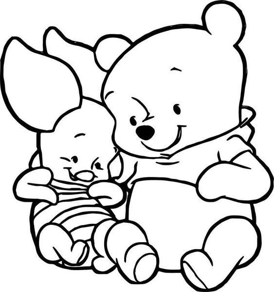 Tranh cho bé tô màu gấu Pooh 22