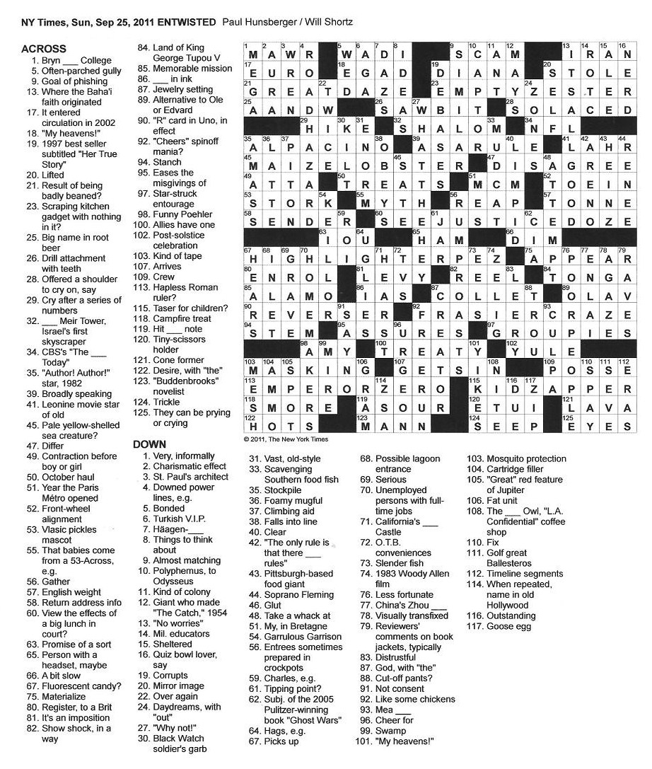 picture relating to Printable Ny Times Crossword Puzzles called Alternatives Clean York Instances Sunday Crossword puzzles june 17 2018