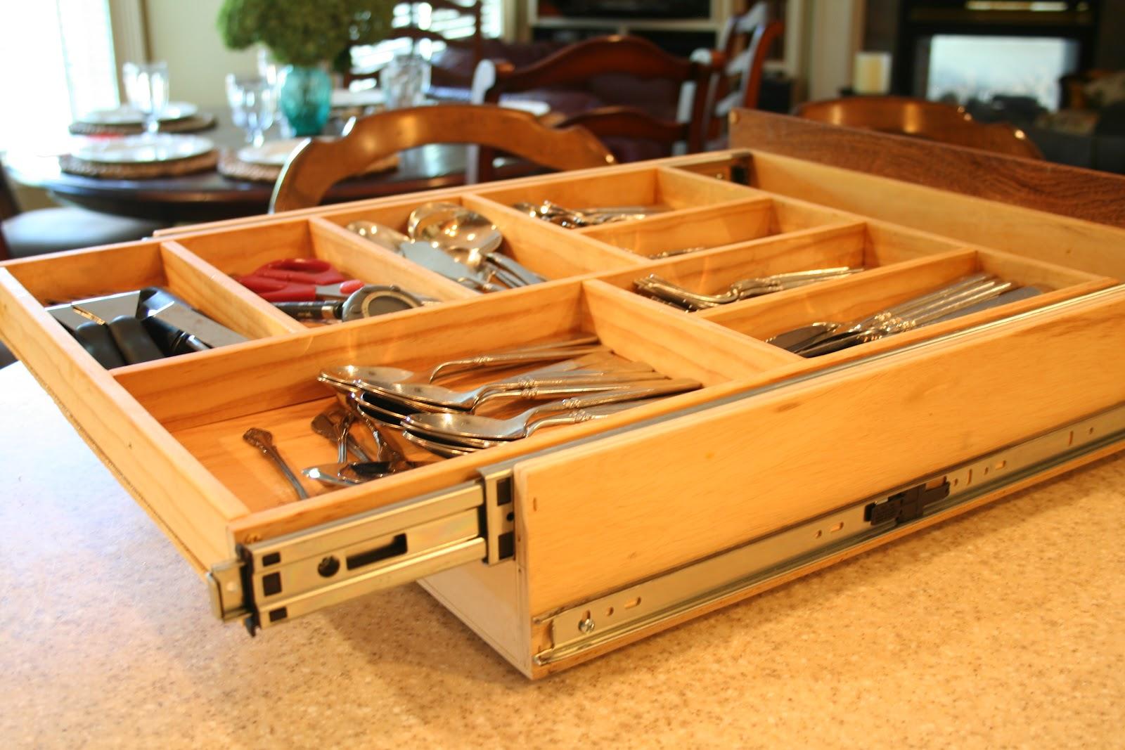 two tier kitchen drawer organizer step building slides from wood joy studio design