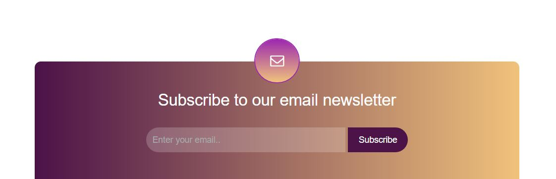 sticky newsletter for bootstrap