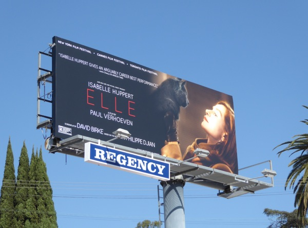 Elle movie billboard