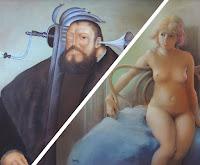 Retratos de arte de mujeres y hombres Capozzoli Sabillón