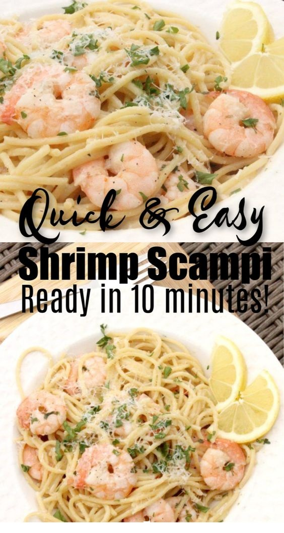 Lemon Garlic Shrimp Scampi Recipe