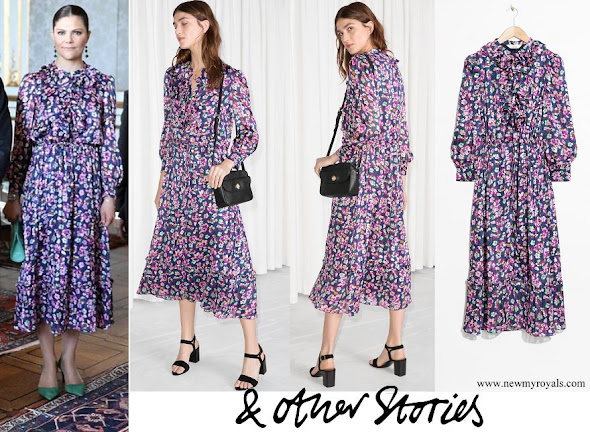 Crown Princess Victoria wore & Other Stories Floral Print Maxi Dress