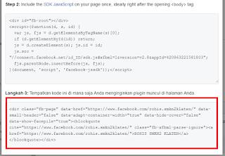 Cara memasang likebox facebook diblog