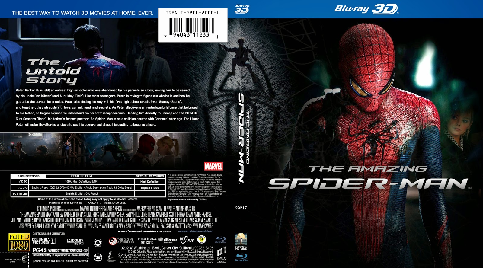 Capa Bluray The Amazing Spider-Man