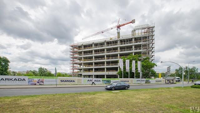 Budowa w pobliżu ronda Fordońskiego w Bydgoszczy