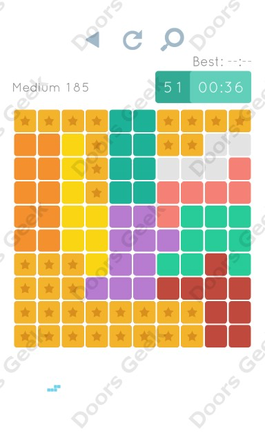 Cheats, Walkthrough for Blocks and Shapes Medium Level 185