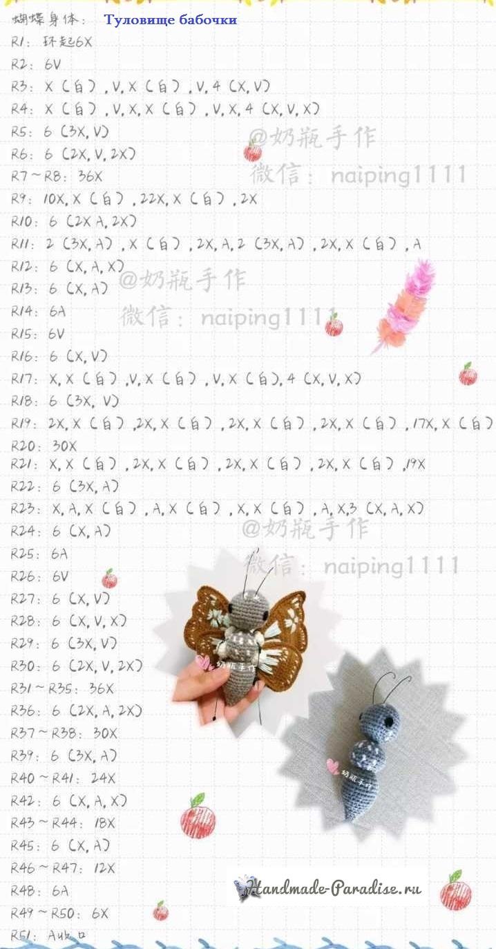 Описание вязания бабочки (1)
