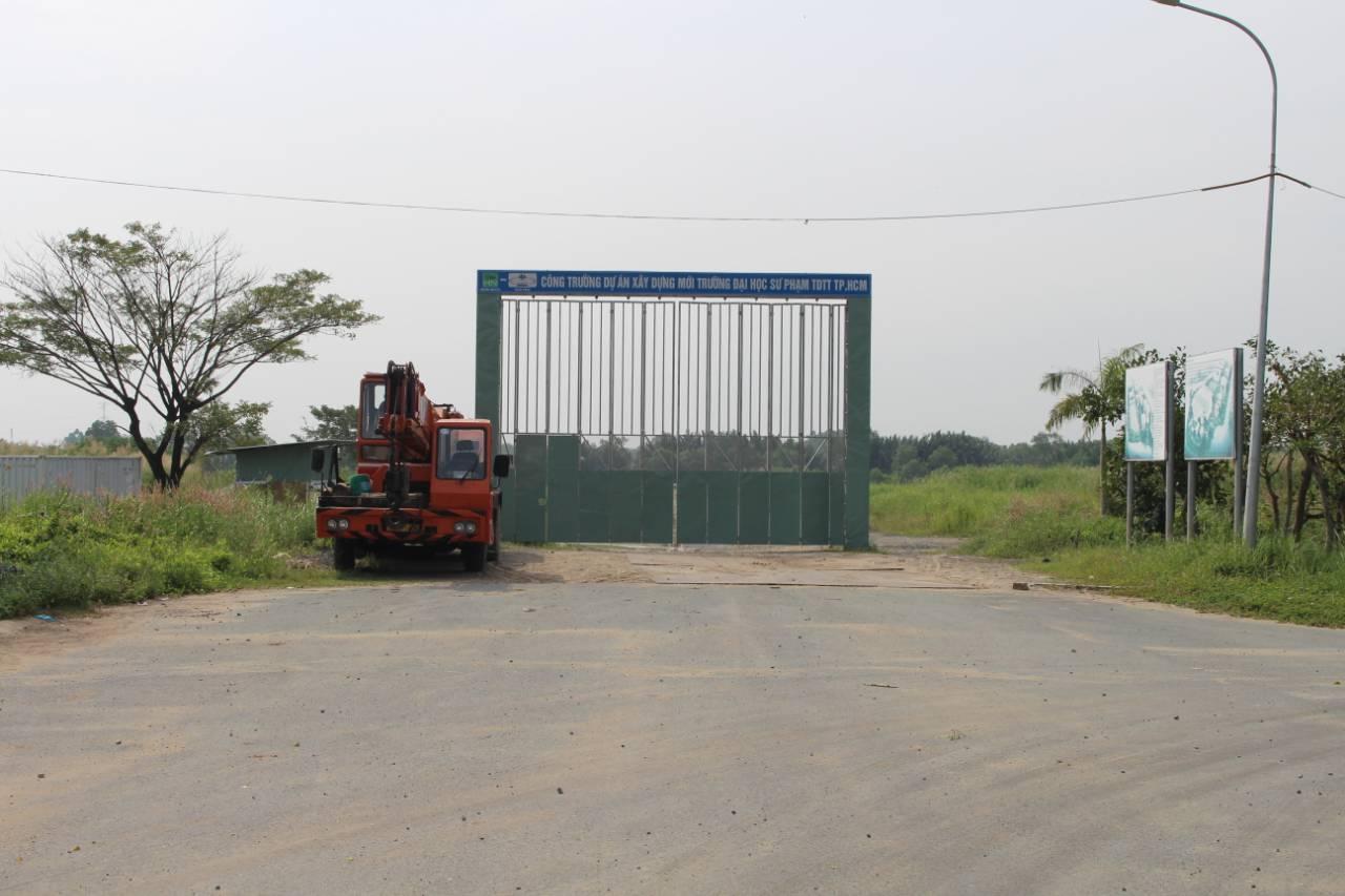 Công trường dự án xây dựng trường Đại học sư phạm TDTT TP.HCM
