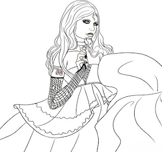 my sister the vampire coloring pages