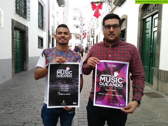 El Ayuntamiento de Santa Cruz de La Palma da continuidad en Navidad al ciclo MusicQueando con seis actuaciones al aire libre