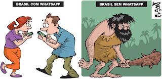 Resultado de imagem para charges whatsapp
