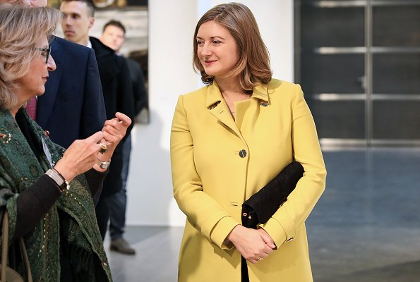 Princess Stephanie visited the Salon 2019 of the Luxembourg Art Circle (CAL) at Tramsschapp Culture Center