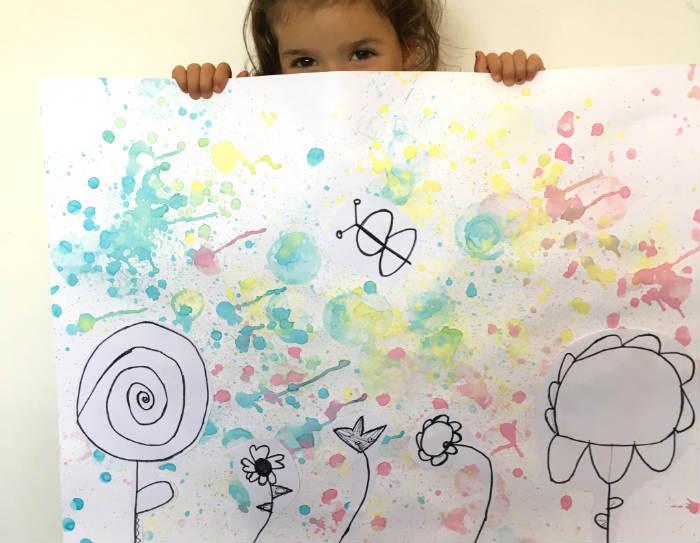 manualidades, diy, crafts, actividades infantiles primavera motricidad fina pintar burbujas jabon