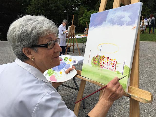 Pintura al aire libre, en la Finca Munoa, de las aulas de las casas de cultura