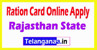 How to Apply Ration Card Online Rajasthan State