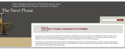 The Next Phase Changes Platforms