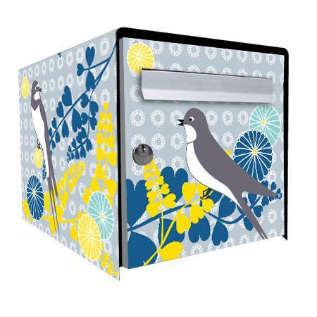 les yeux de la lune murielle poudoulec stickers pour bo te aux lettres. Black Bedroom Furniture Sets. Home Design Ideas