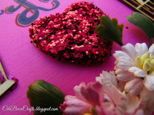 Handmade Valentine's Day Card featured on CdeBaca Crafts Gallery blog.