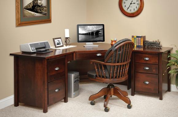 Home OFFICE FURNITURE L Shaped Corner Computer Desks with Hutch - Best
