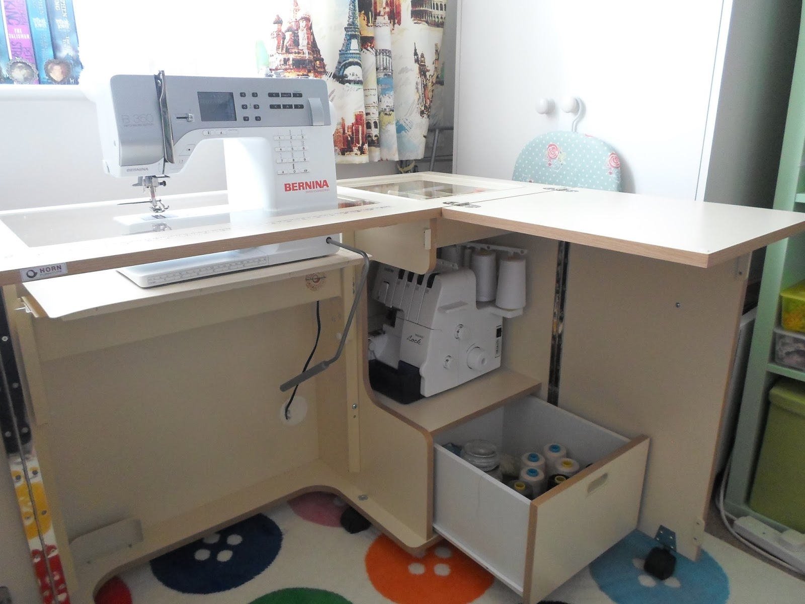 When choosing your cabinet think about what you will use it for and which room it will be used in.Mine is in a specific space but you may have to keep ... & SewAngelicThreads: A review of the Horn Nova Sewing Machine Cabinet ...