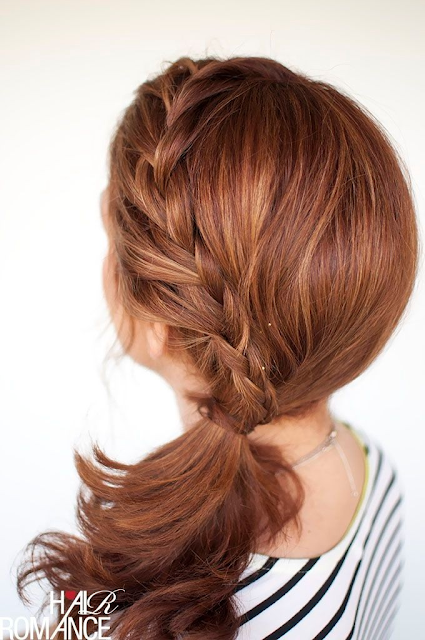 Side Braid Hairstyle With A Pony