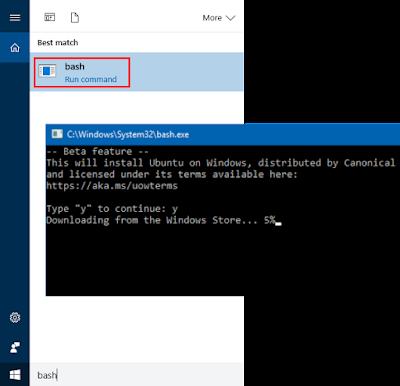 TestingMonk: Enable Ubuntu Bash on Windows 10