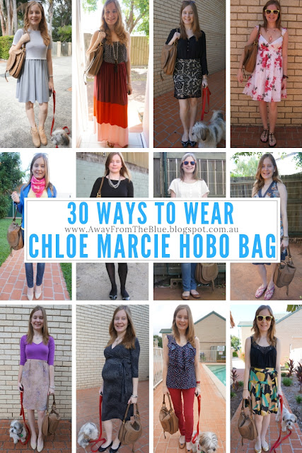 30 ways to wear the medium Chloe Marcie Hobo Bag in nut brown | awayfromtheblue  30wears challenge