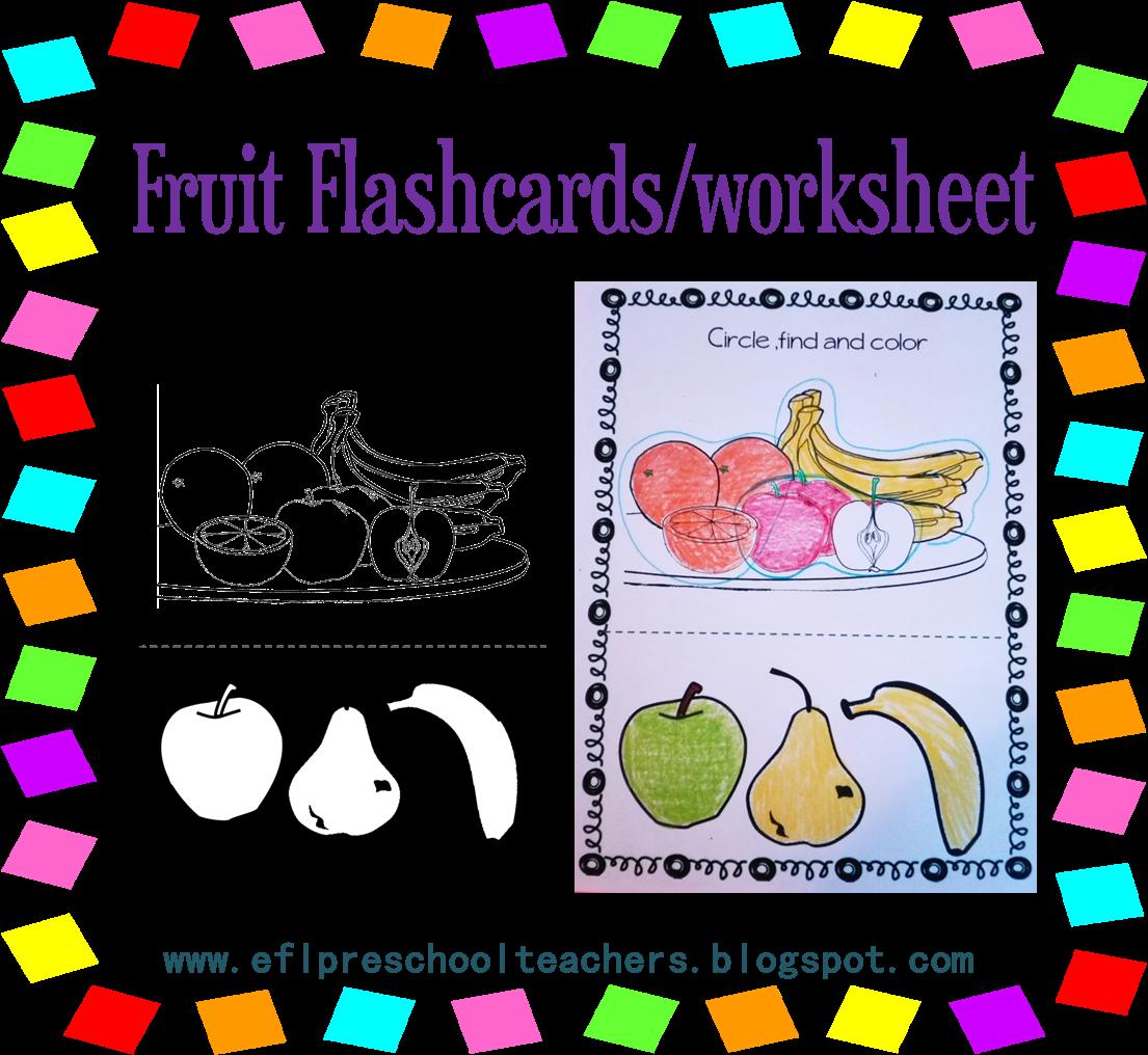 Esl Efl Preschool Teachers Fruit Theme For The Ell