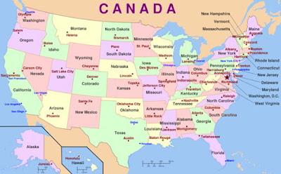 اسماء الولايات المتحدة الامريكية وعواصمها USA Capital Cities