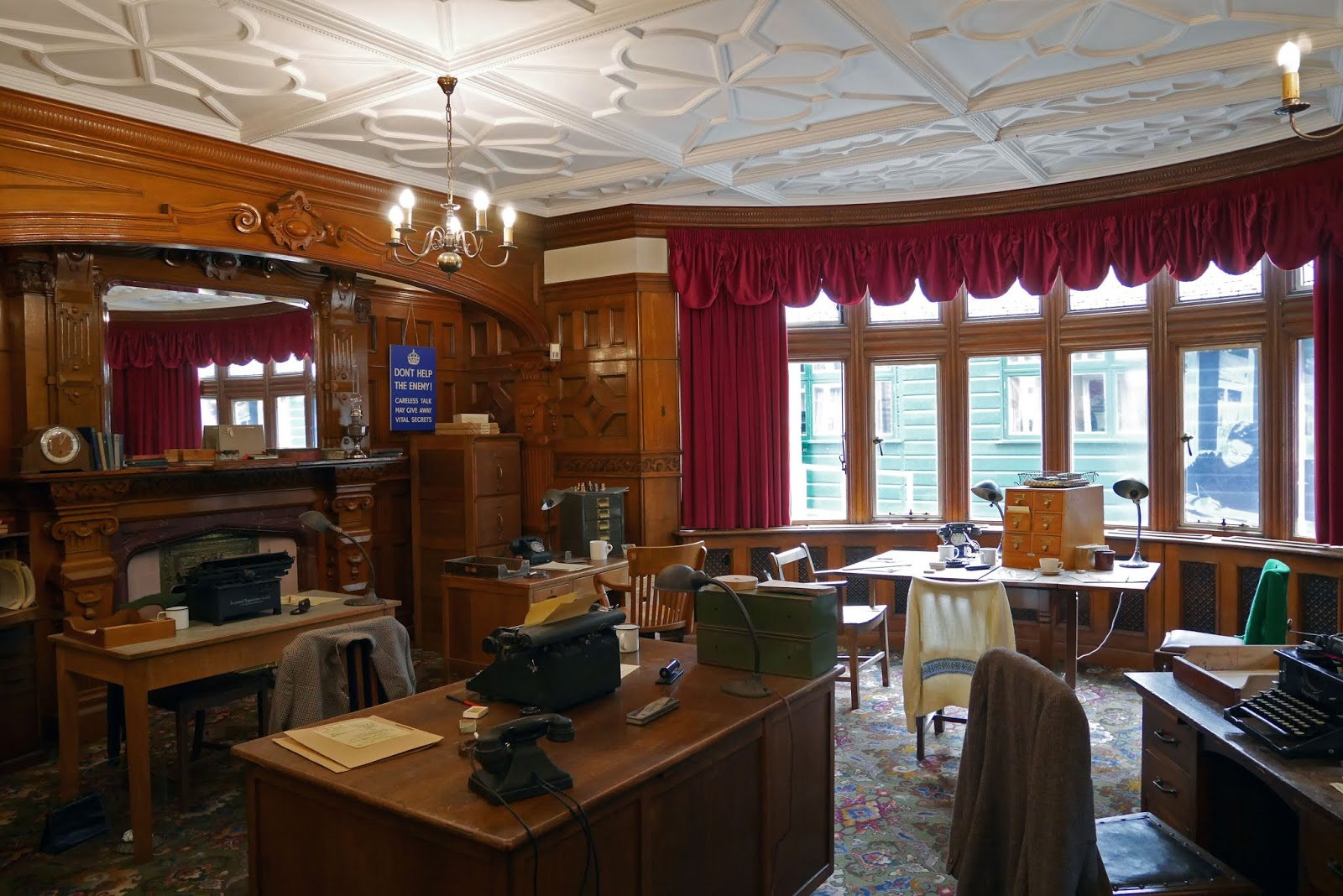 The Head of the Government Code and Cypher School's office at Bletchley Park