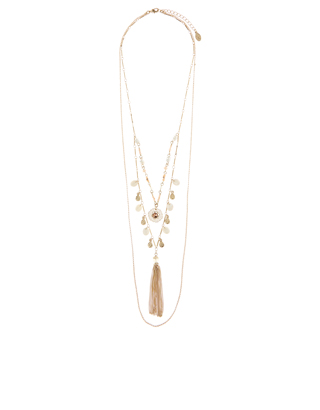 The Best Jewellery Buys from the High Street this SS16 - Accessorize - Seychelles Layered Tassel Necklace - £15.00