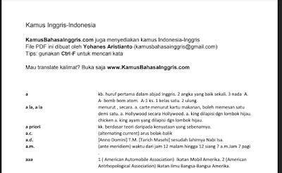 Unduh Download Kamus Bahasa Inggris Praktis format pdf