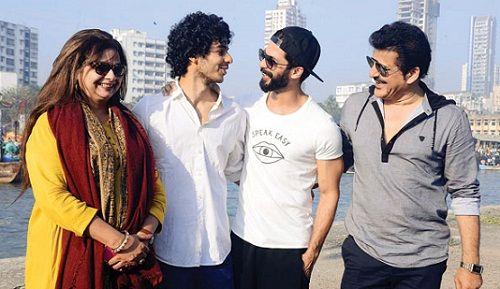 Ishaan Khattar Parents with Shahid Kapoor